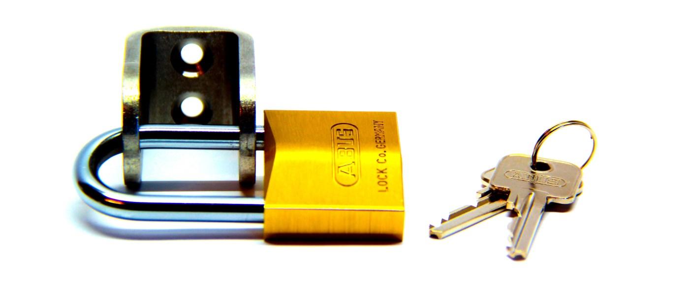 CableSec mit ABUS-Vorhängeschloss